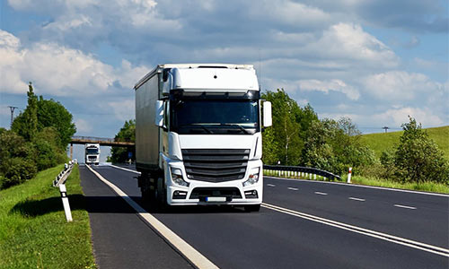 картинка по доставке автомобильным транспортом из Франции