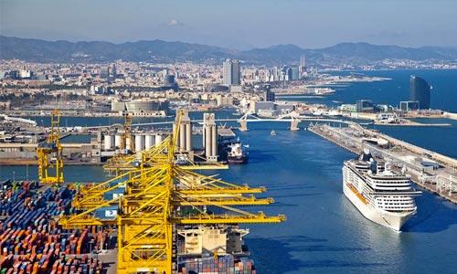 морской порт Барселона